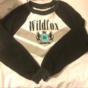 Wildfox logo horse sweater white black classic L